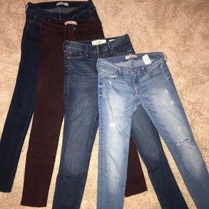 Bundle of Hollister Jeans size 3 Regular!